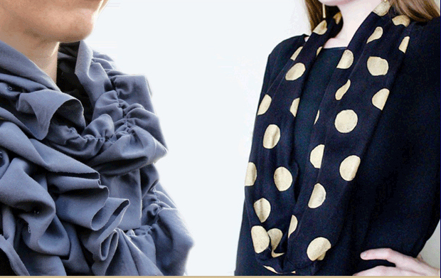 2 Ways To DIY Cute, Cheap Scarves